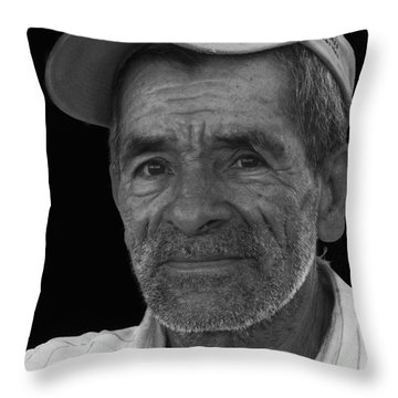 Face Of A Hardworking Man Throw Pillow by Heiko Koehrer-Wagner