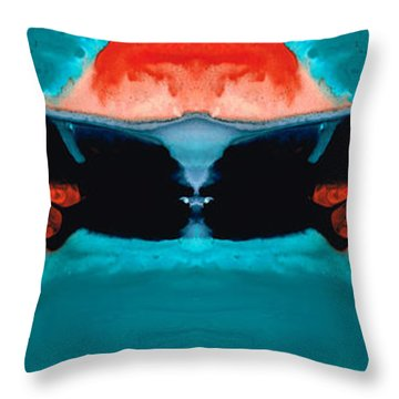 Face To Face - Abstract Art By Sharon Cummings Throw Pillow by Sharon Cummings