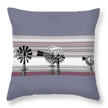 Face To The Wind Throw Pillow by Holly Kempe