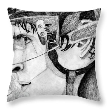 Faceoff Focus Throw Pillow by Kayleigh Semeniuk
