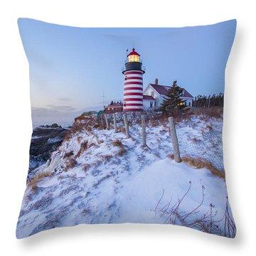 Facing East  Throw Pillow by Evelina Kremsdorf