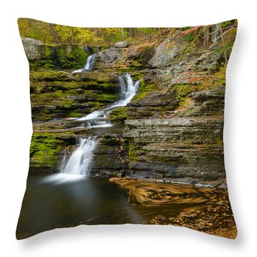Factory Falls Throw Pillow by Mark Robert Rogers