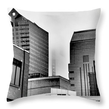 Fade To Grey Throw Pillow by Rona Black