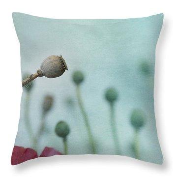 faded summer III Throw Pillow by Priska Wettstein