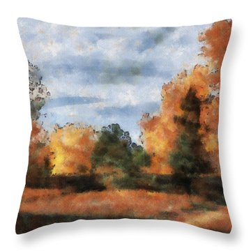 Fading Out Throw Pillow by Ayse Deniz