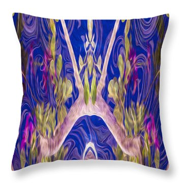 Fairies And Fantasies Throw Pillow by Omaste Witkowski
