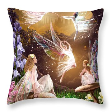 Fairy Ballet Throw Pillow by Garry Walton