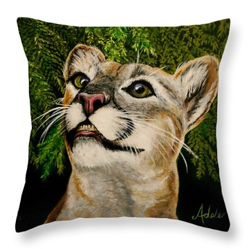 Faith Throw Pillow by Adele Moscaritolo