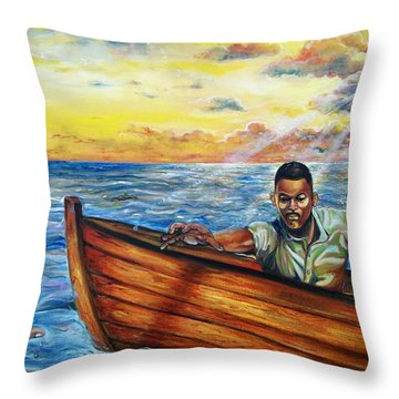 Faith Throw Pillow by Emery Franklin
