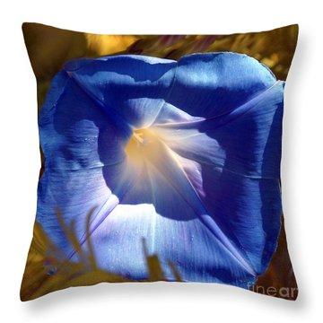 Fall Blues Throw Pillow by Kim Pate