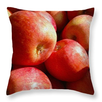 Fall Harvest Throw Pillow by Cheryl Young