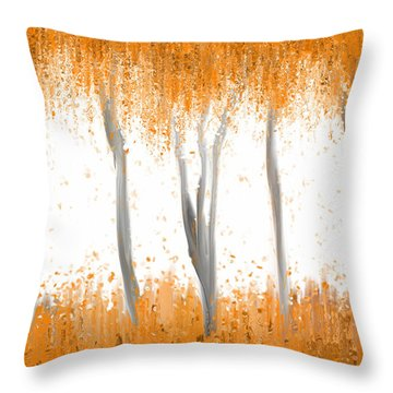 Fall Throw Pillow by Kume Bryant