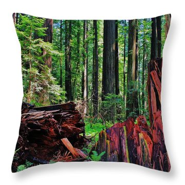Fallen Giant Throw Pillow by Benjamin Yeager