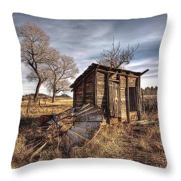 Fallen Windmill Throw Pillow by Dan Sabin