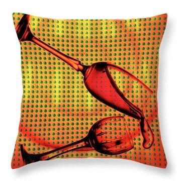 Falling Throw Pillow by Mauro Celotti