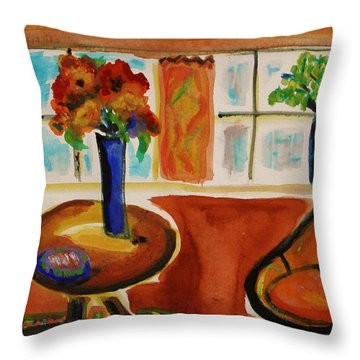 Family Room Corner Throw Pillow by Mary Carol Williams