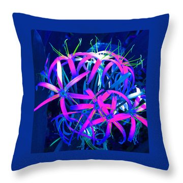 Fantasy Flowers 6 Throw Pillow by Margaret Saheed