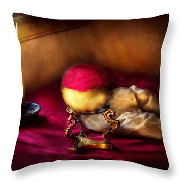 Fantasy - The Crystal Ball Throw Pillow by Mike Savad