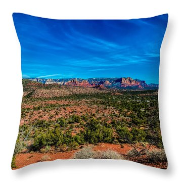Far View Throw Pillow by Jon Burch Photography