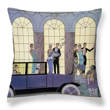 Farewell Throw Pillow by Georges Barbier