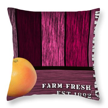 Farm Fresh Throw Pillow by Marvin Blaine