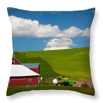Farm Machinery Throw Pillow by Inge Johnsson