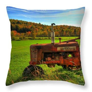 Farmall Throw Pillow by Alana Ranney