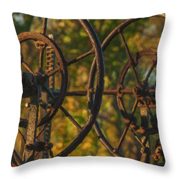Farmers Tools Of Old Throw Pillow by Jack Zulli
