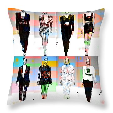 Fashion And Color Throw Pillow by Marvin Blaine