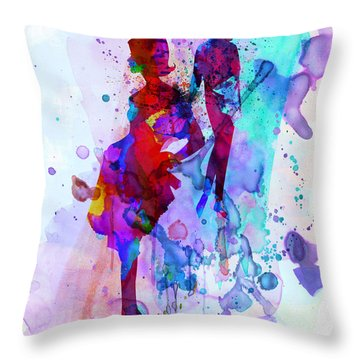 Fashion Models 5 Throw Pillow by Naxart Studio