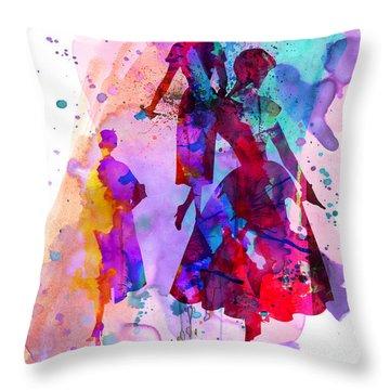 Fashion Models 6 Throw Pillow by Naxart Studio