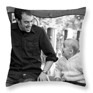Father And Son II Throw Pillow by Lisa Phillips