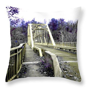 Fayette Station Bridge Throw Pillow by Amy Sorrell