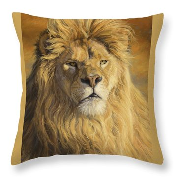 Fearless - Detail Throw Pillow by Lucie Bilodeau