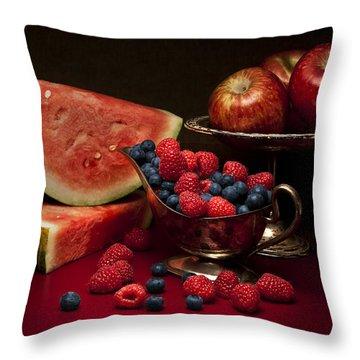 Feast Of Red Still Life Throw Pillow by Tom Mc Nemar
