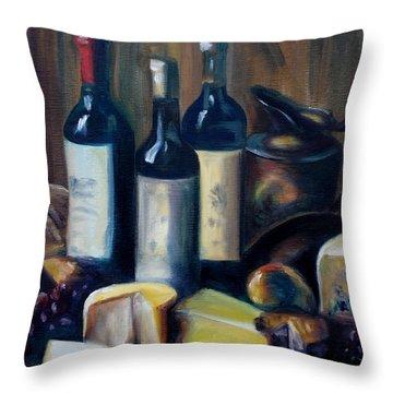 Feast Still Life Throw Pillow by Donna Tuten