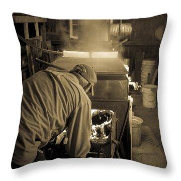 Feeding The Beast Throw Pillow by Edward Fielding