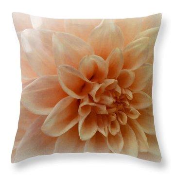 Feeling Peachy Throw Pillow by Faye Giblin