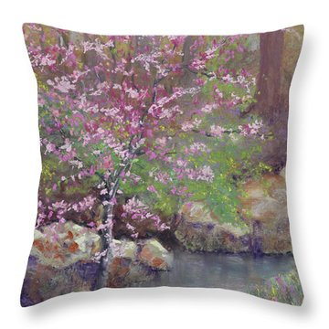 Femme Osage Spring Throw Pillow by Lorraine McFarland