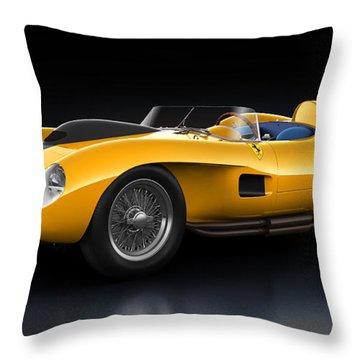 Ferrari 250 Testa Rossa - Bloom Throw Pillow by Marc Orphanos