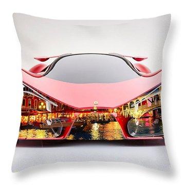 Ferrari F80 Venice Skyline Throw Pillow by Marvin Blaine