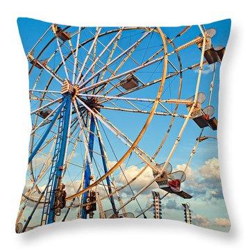 Ferris Wheel Throw Pillow by Steve Harrington