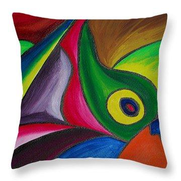Fertile Ground Throw Pillow by Donna Blackhall
