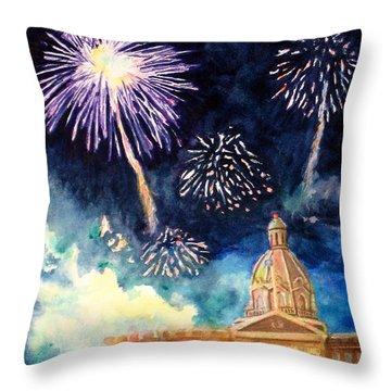 Festive Season Throw Pillow by Mohamed Hirji