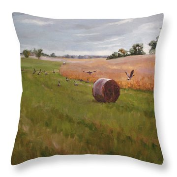 Field Day Throw Pillow by Scott Harding
