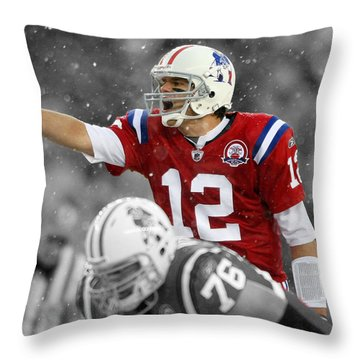 Field General Tom Brady  Throw Pillow by Brian Reaves
