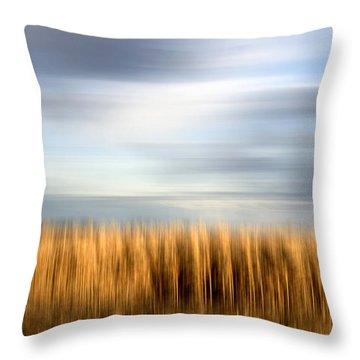 Field Of Maize Throw Pillow by Bernard Jaubert