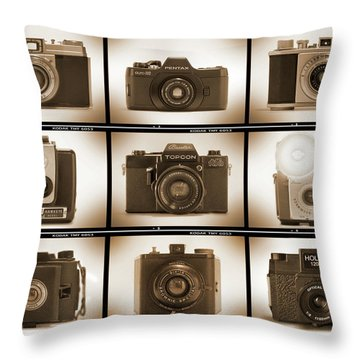 Film Camera Proofs 3 Throw Pillow by Mike McGlothlen