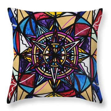 Financial Freedom Throw Pillow by Teal Eye  Print Store