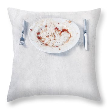 Finished Plate Throw Pillow by Joana Kruse